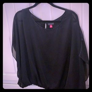 VINCE CAMUTO sheer blouse. Black in color XL